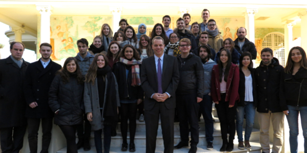 Visit of the students to the US Consulate in Barcelona - ceibcn